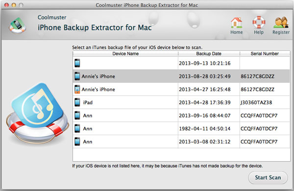 Coolmuster iTunes Data Recovery to Mac