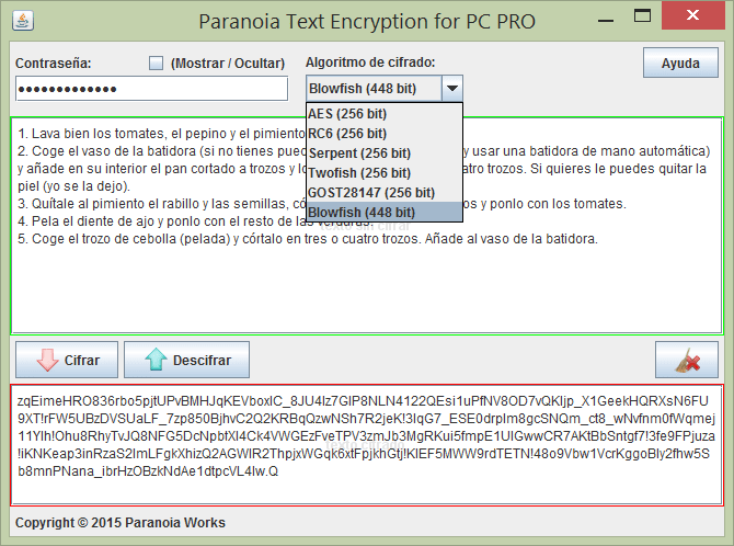 Paranoia Text Encryption