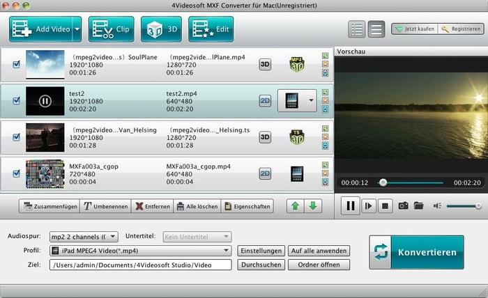 4Videosoft MXF Converter für Mac