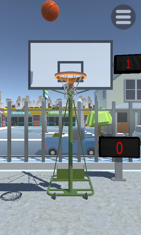 Shooting Hoops basketball game