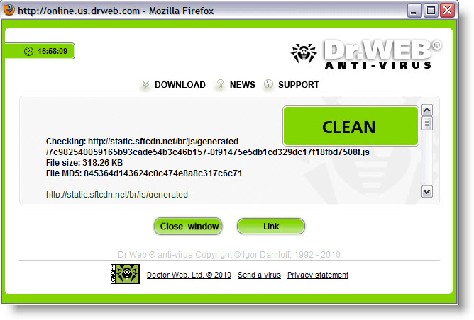 Dr.Web Antivirus Link Checker for Firefox