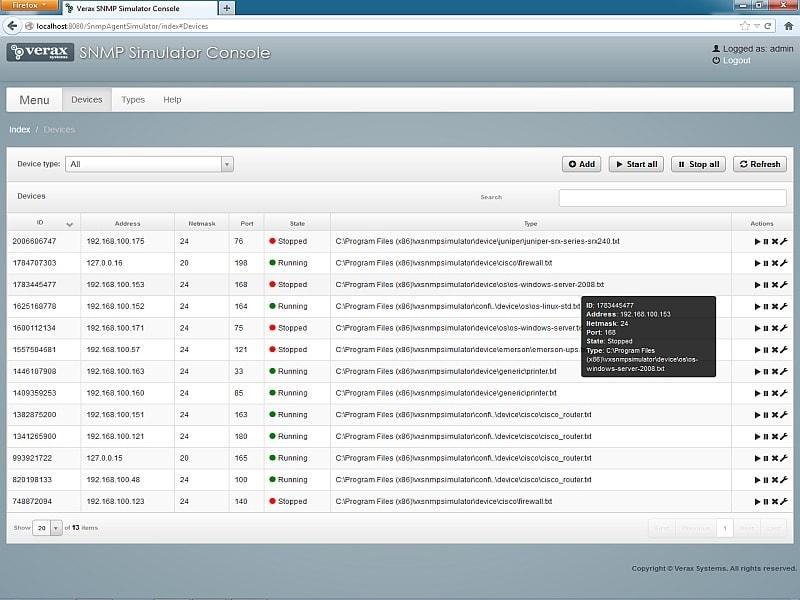 Free Verax SNMP Agent Simulator