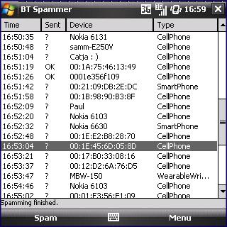 BT Spammer