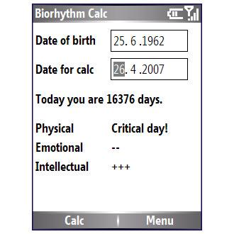 Biorhythm Calc
