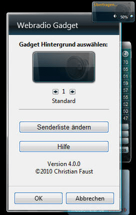 Webradio Gadget