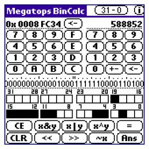 Megatops BinCalc