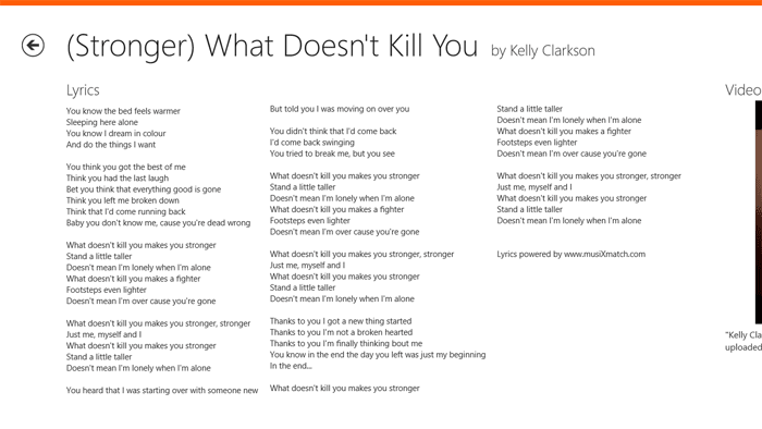 Lyrics voor Windows 10