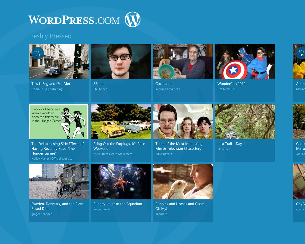 WordPress.com pour Windows 10