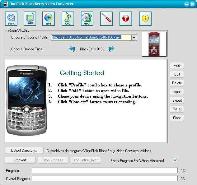 OneClick BlackBerry Video Converter
