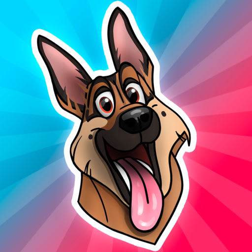 GSDmoji German Shepherd emojis