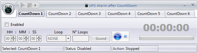 UP2 Alarm after Countdown