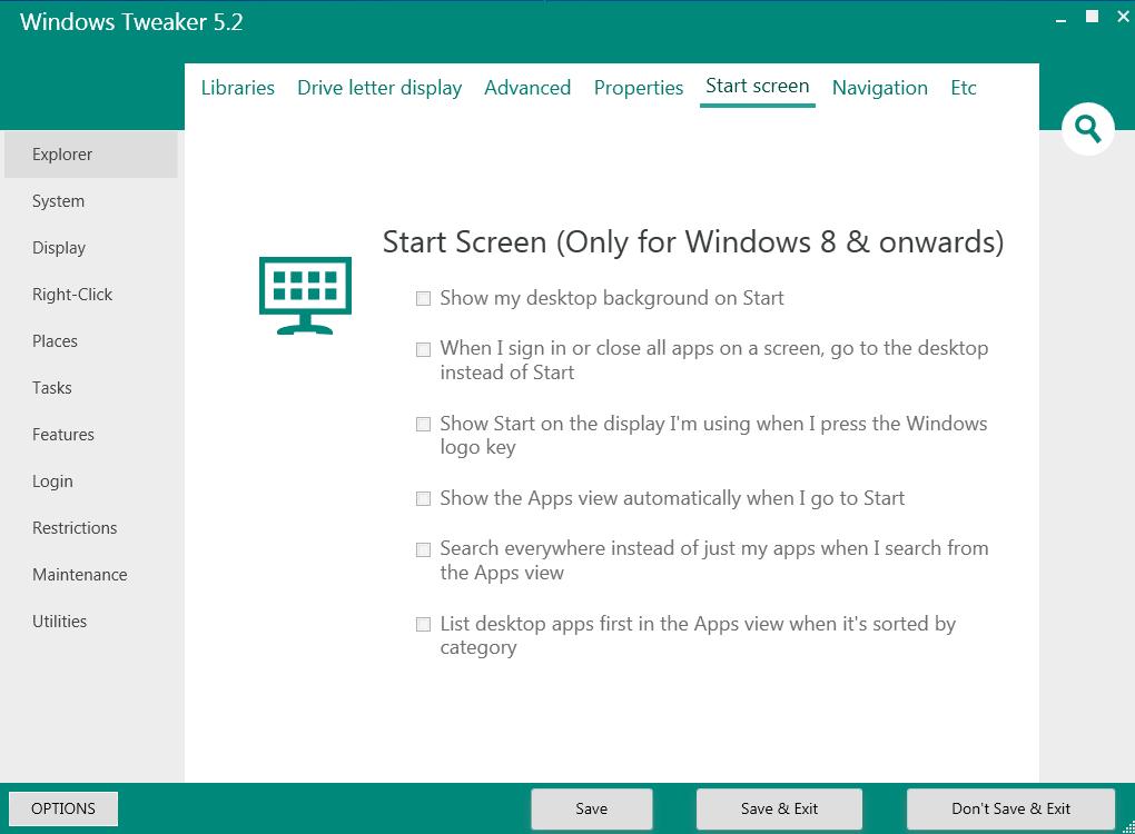 Windows Tweaker Portable