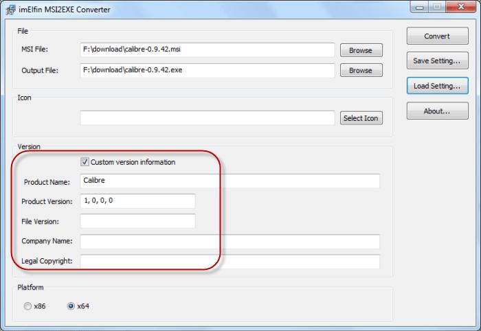 ImElfin Free MSI to EXE Converter