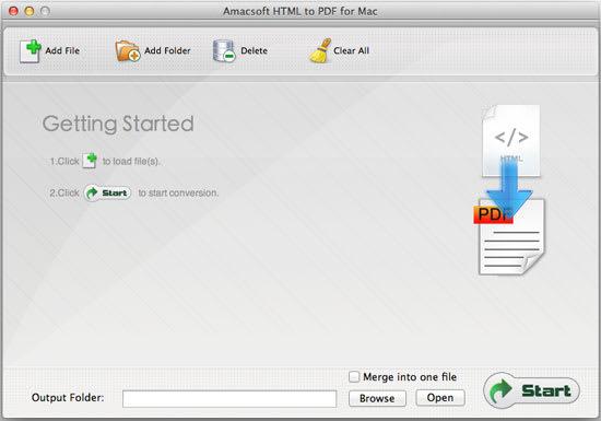 Amacsoft HTML to PDF for Mac