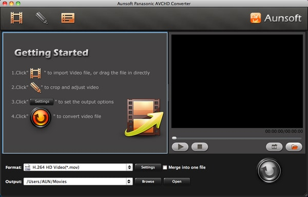 Aunsoft Panasonic AVCHD Converter for Mac