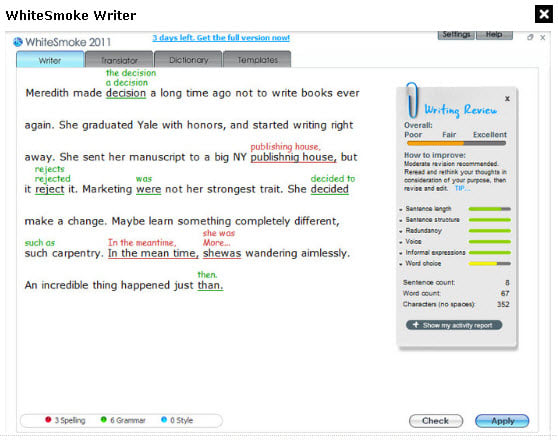 WhiteSmoke Writer Business 2011