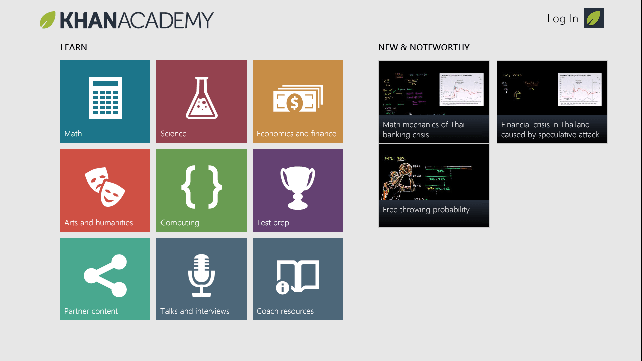 Khan Academy for Windows 10