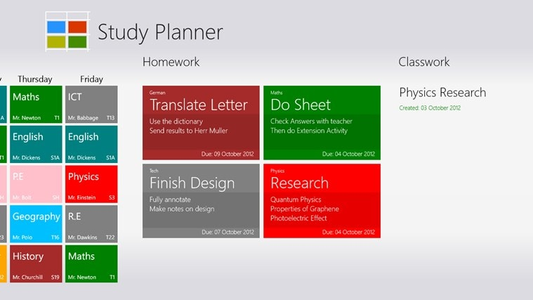 Study Planner for Windows 10