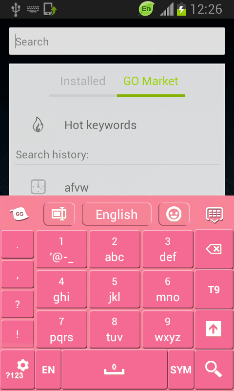 Keyboard Theme Pink Free