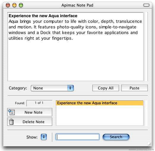ApiMac Note Pad