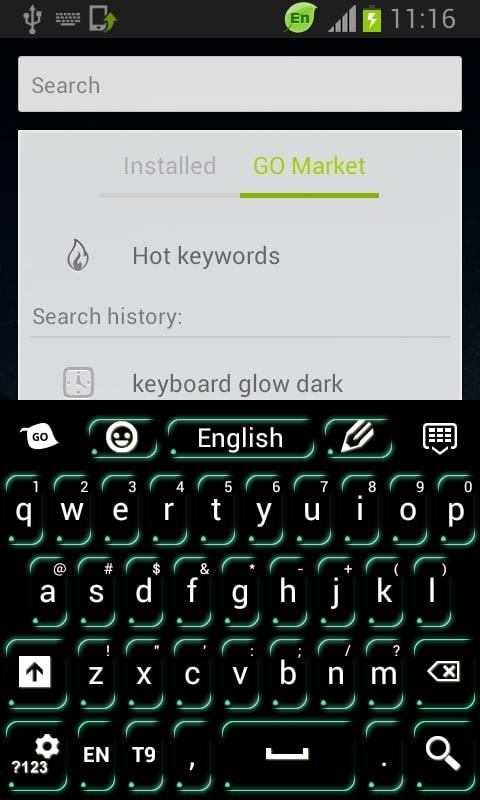 Keyboard Green Neon