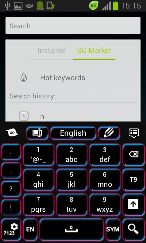 Keyboard Free Neon