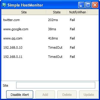 Simple HostMonitor