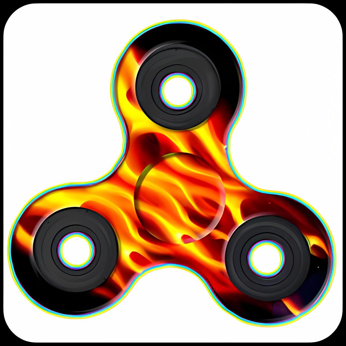 Fidget Hand Spinner Fire Suit