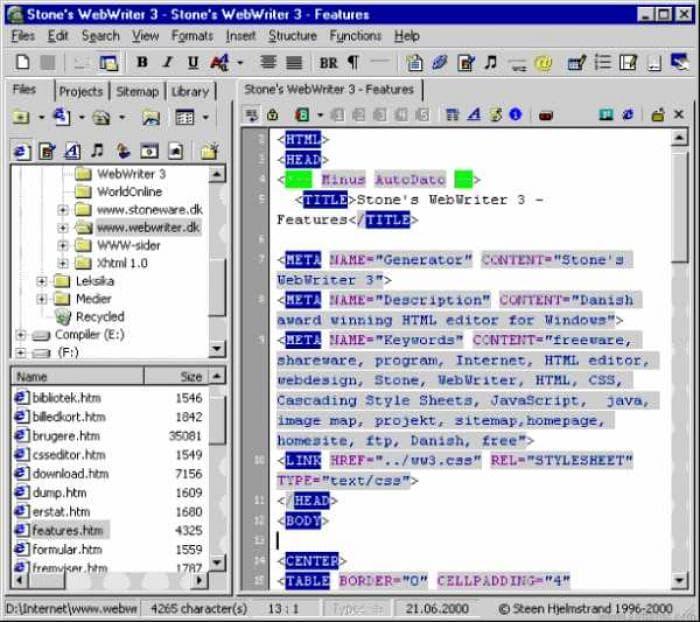 Stone's WebWriter