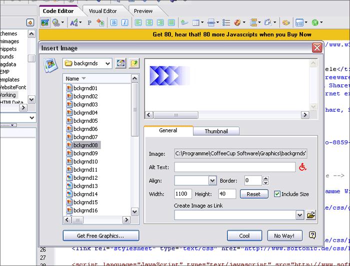 CoffeeCup The HTML Editor