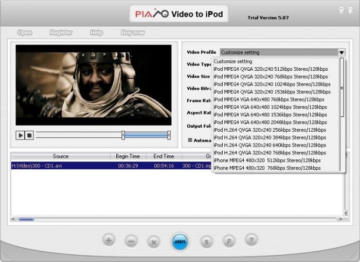 Plato Video to iPod Converter
