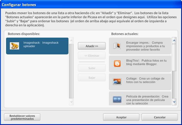 Picasa Imageshack Uploader