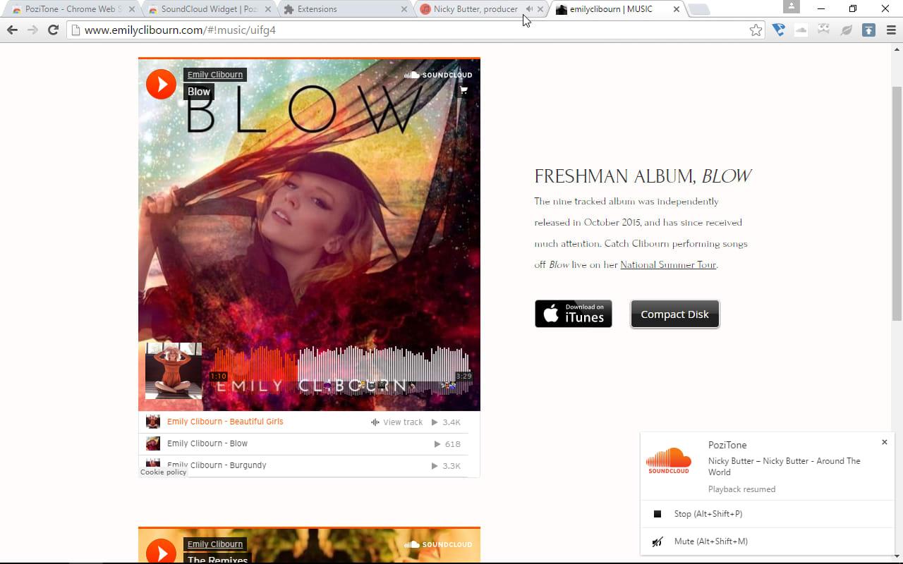 SoundCloud Widget | PoziTone module