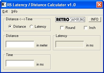 Portable RS Latency Distance Calculator