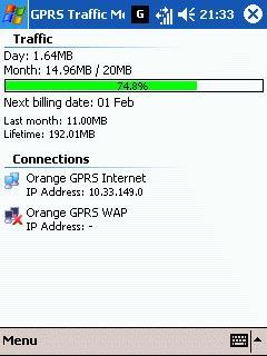 Smartphone GPRS Traffic Monitor