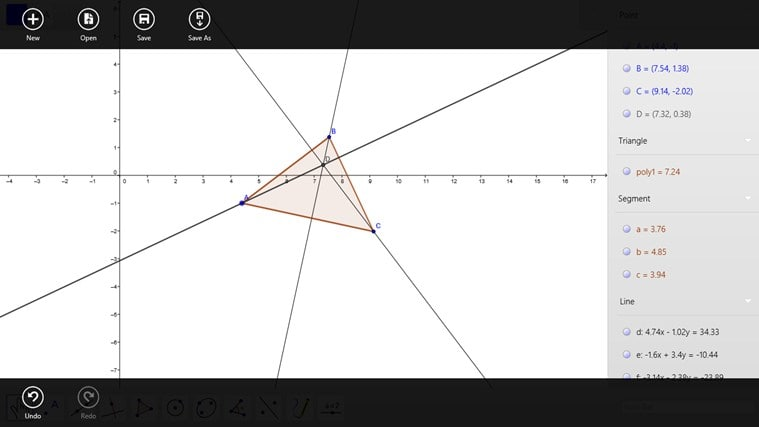 GeoGebra pour Windows 10