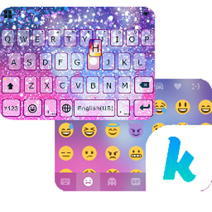 Galaxy Sparkle Kika Keyboard 1.0