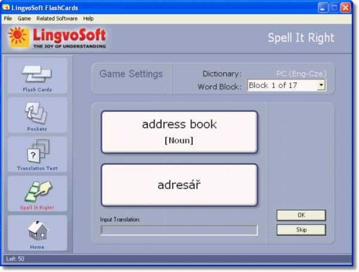 LingvoSoft FlashCards English - Czech