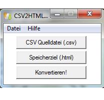 CSV2HTML