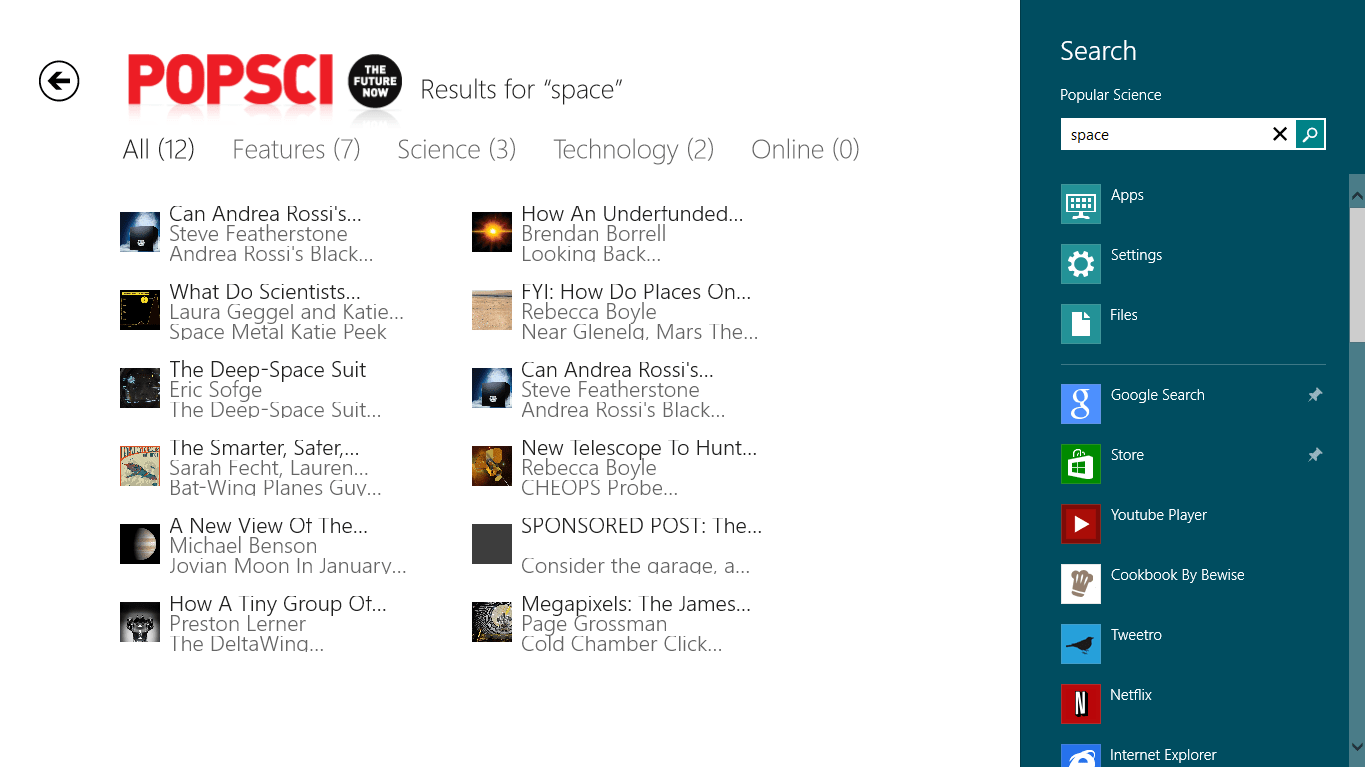Popular Science for Windows 10