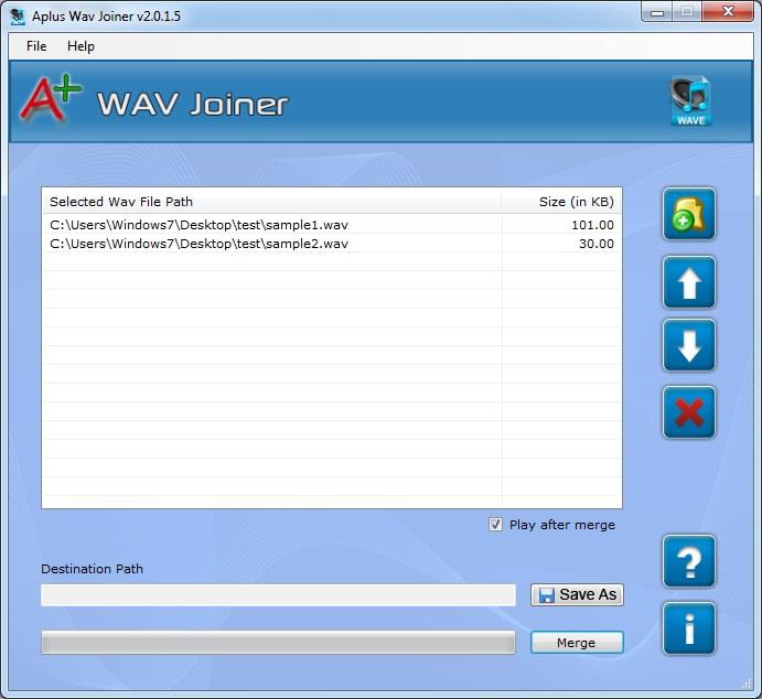 Aplus WAV Joiner