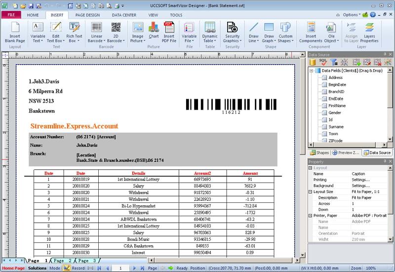SmartVizor Bill&Statement Printing Software V12.1