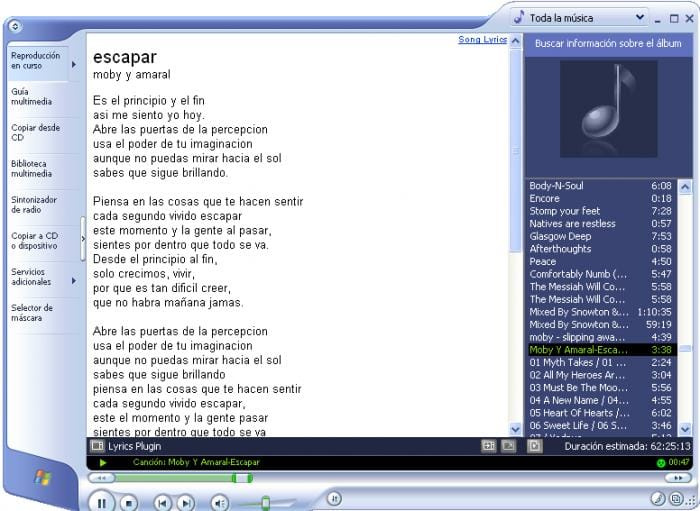 Lyrics Plugin pour Windows Media Player