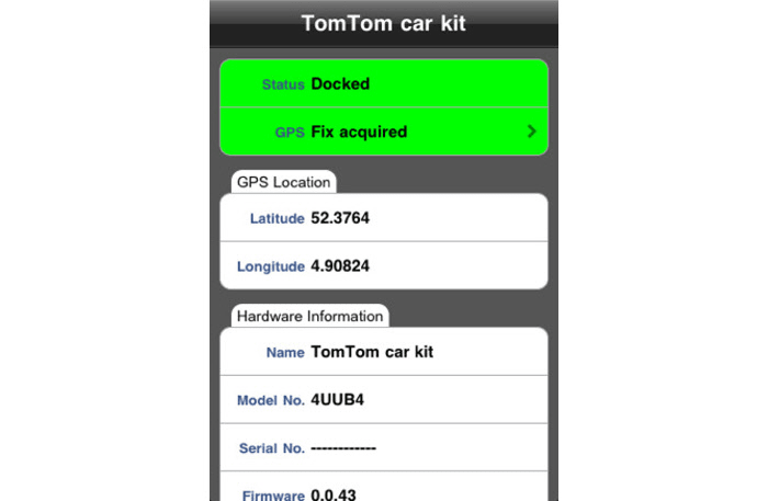TomTom car kit tool