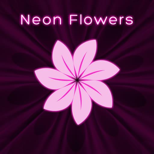 Neon Flowers Keyboard