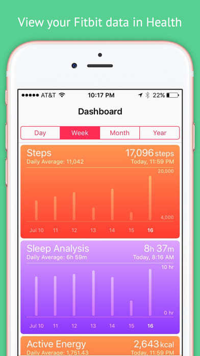 myFitnessSync for Fitbit - Fitbit to Apple Health