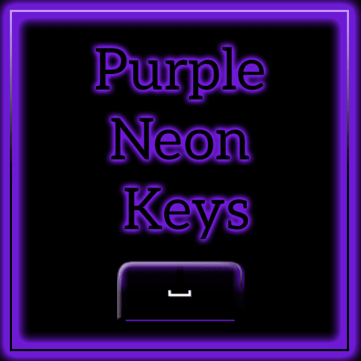 Keyboard Color Neon Purple