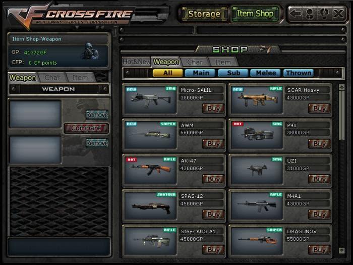 CROSSFIRE - Loja de armas