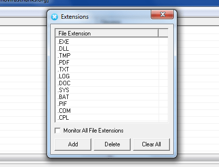 Deletion Extension Monitor