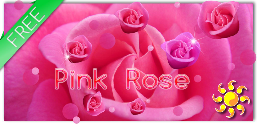 Pink Rose Live Wallpaer